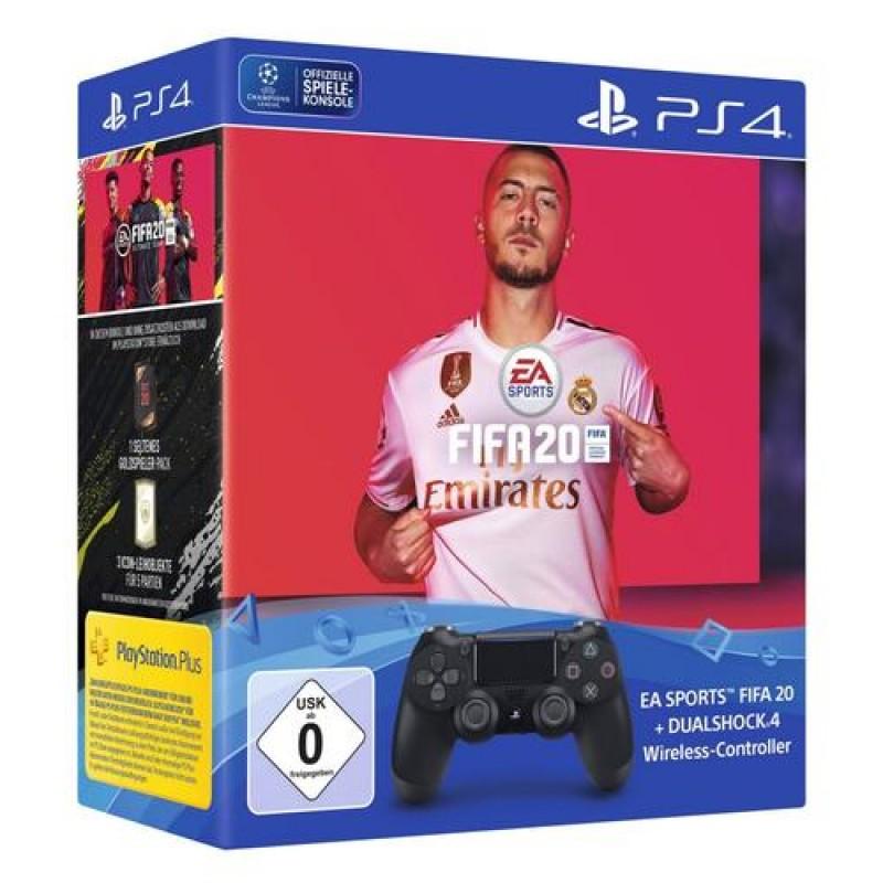 Sony DualShock 4 + EA Sports FIFA 20 Gamepad PlayStation 4 Analogue / Digital Bluetooth/USB Black