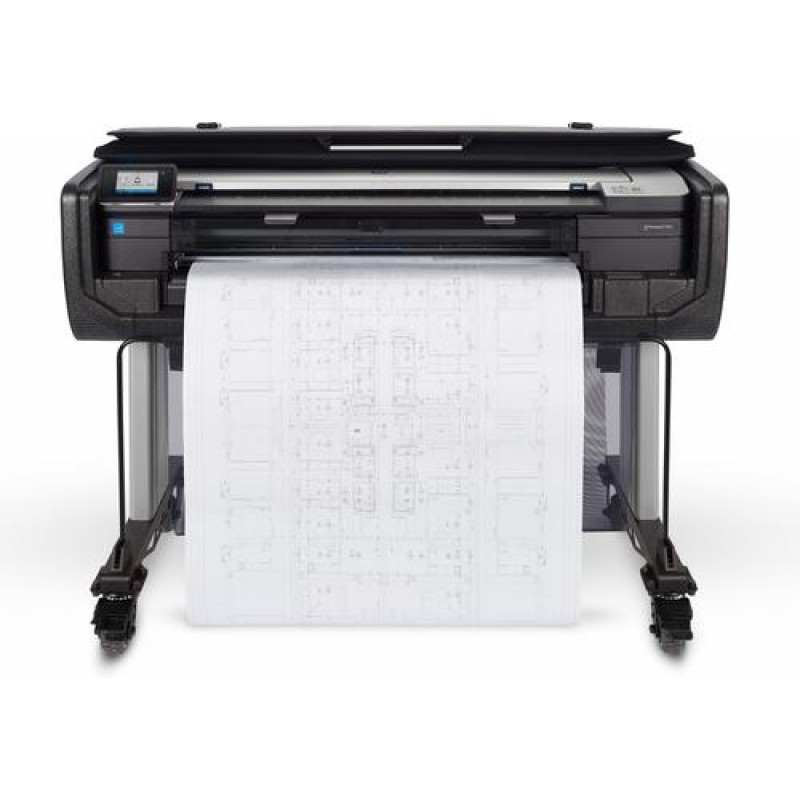 HP Designjet T830 36-in large format printer Colour 2400 x 1200 DPI Thermal inkjet 914 x 1897 mm Wi-Fi Yes