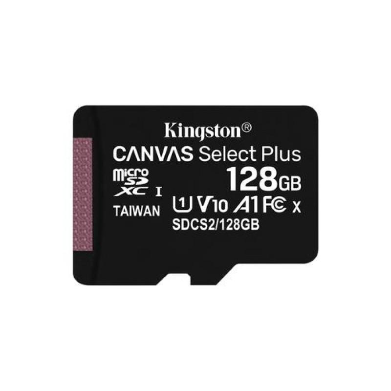 Kingston Technology Canvas Select Plus memory card 128 GB MicroSDXC Class 10 UHS-I Black