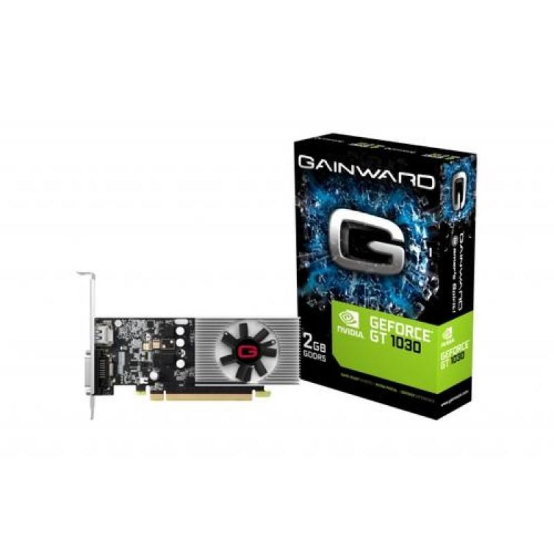 Gainward 426018336-3965 graphics card NVIDIA GeForce GT 1030 2 GB GDDR5 Black, Gray