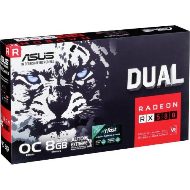 ASUS DUAL-RX580-O8G Radeon RX 580 8 GB GDDR5 Black,Grey