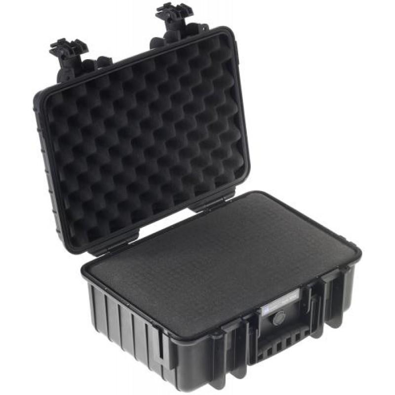 B&W Outdoor Case Type 4000 black with pre-cut foam insert