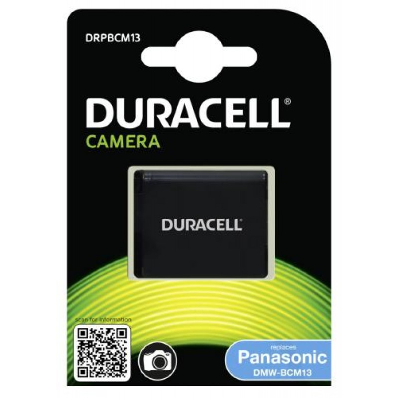 Duracell Camera Battery - replaces Panasonic DMW-BCM13 Battery Black