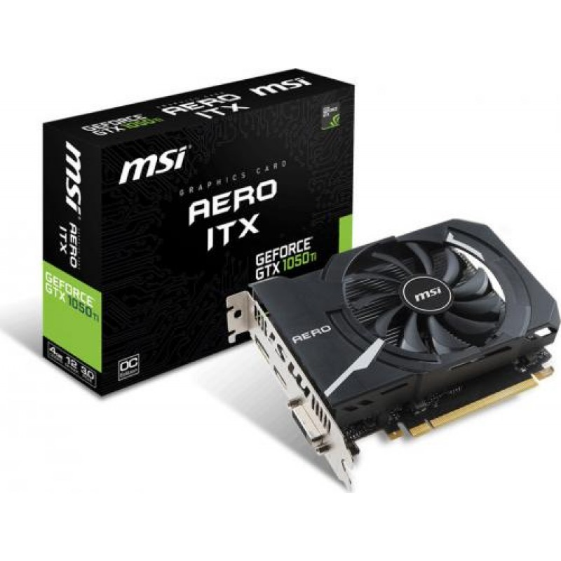 MSI GeForce GTX 1050 TI AERO ITX 4G OCV1 4 GB GDDR5 Black,White