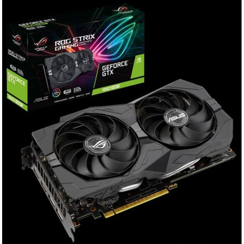 ASUS ROG GTX1660S-6G-GAMING GeForce GTX 1660 SUPER 6 GB GDDR6 Black