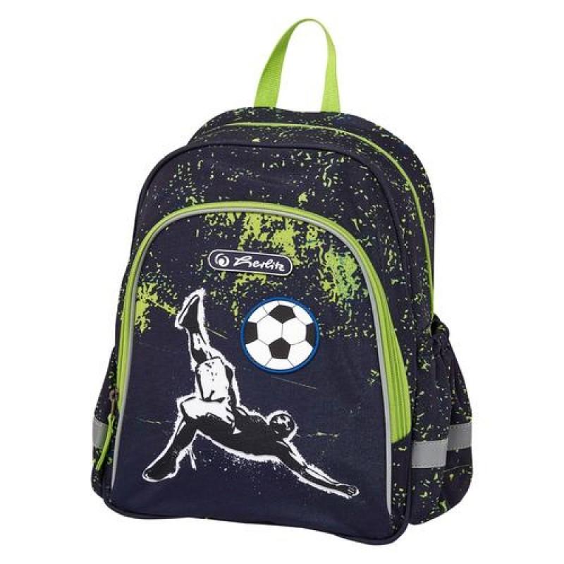 Herlitz Kick It Boy School backpack Black,Green,White Polyester
