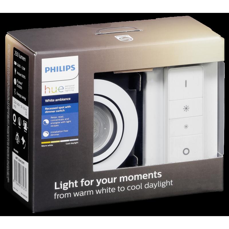 Philips Hue White ambience Milliskin recessed spotlight