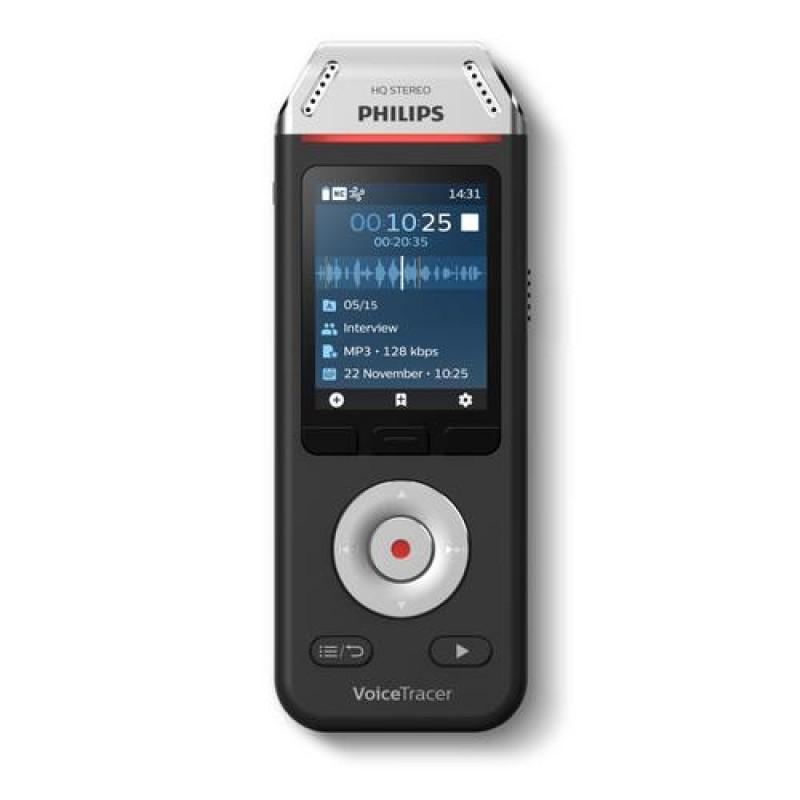 Philips Voice Tracer DVT2110/00 dictaphone Flash card Black,Chrome