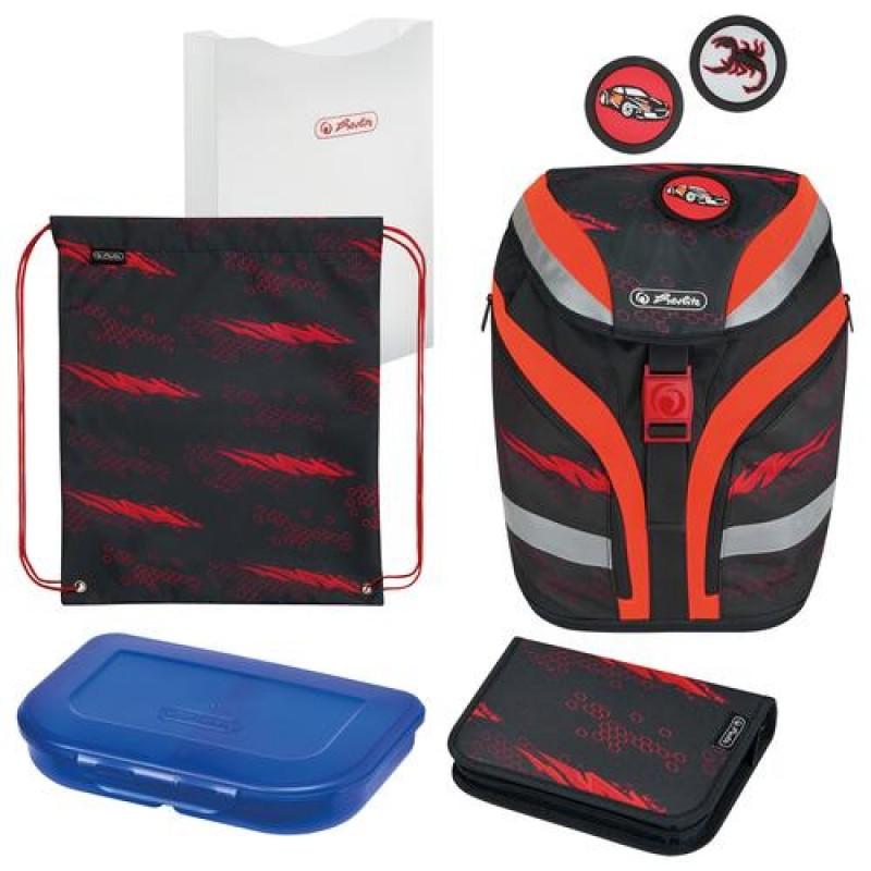 Herlitz SoftFlex Plus Driven school bag set Boy Polyester Black,Red