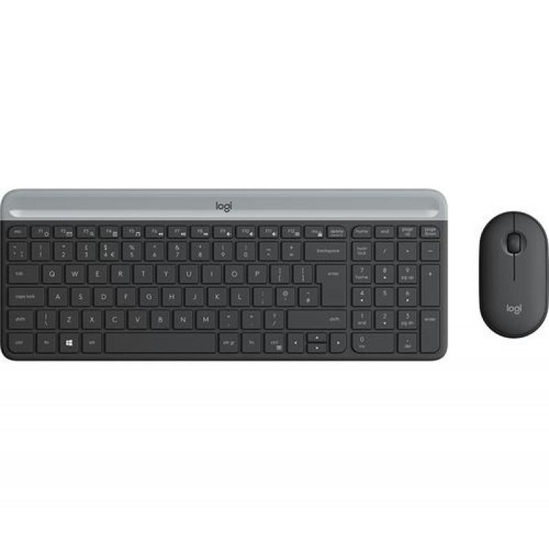 Logitech MK470 keyboard RF Wireless QWERTZ German Graphite