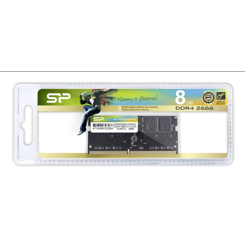 Silicon Power DDR42666 CL19 8GB SODIMM 12V     SP008GBSFU266B02