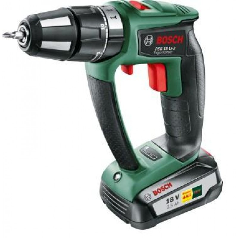 Bosch PSR 18 LI-2 Ergonomic Keyless 1400 RPM Black,Green 1.3 kg