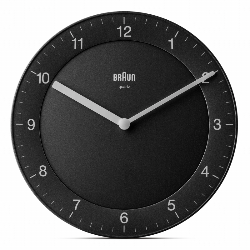 Braun BC 06 B Quartz wall clock analog black