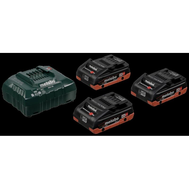 Metabo BasisSet ASC 3036V  3x 18V 40 Ah