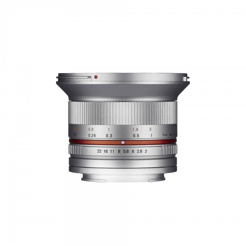Samyang 12mm F2.0 NCS CS SLR Wide lens Silver