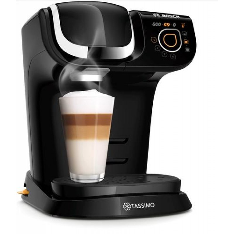 Bosch My Way 2 Pod coffee machine 1.3 L Semi-auto Black,Chrome