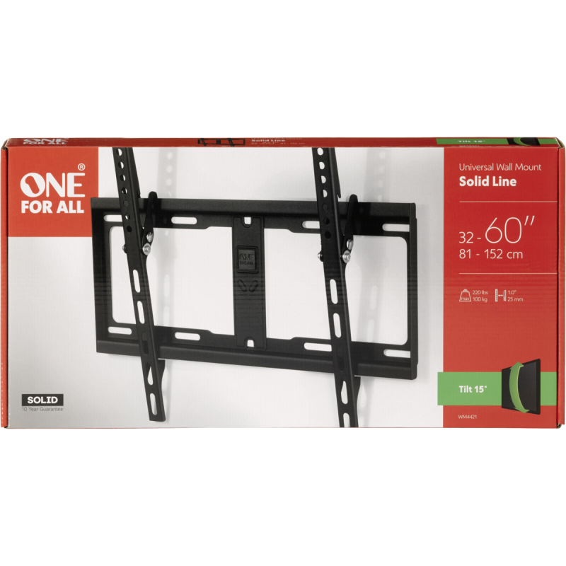 One for All TV Wall mount 60 Solid Tilt