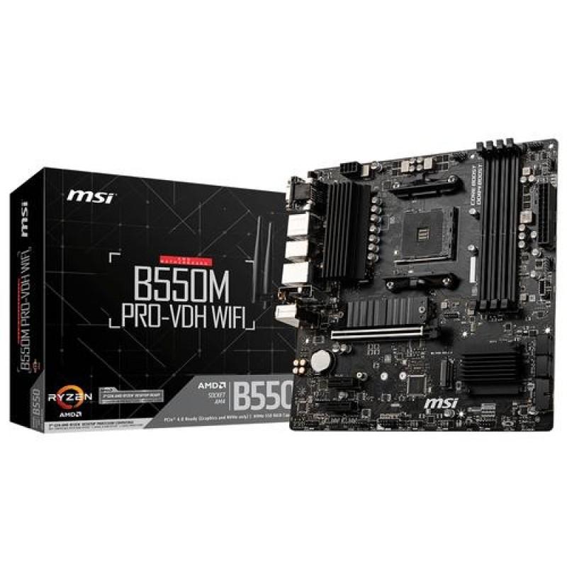 MSI B550M PRO-VDH WIFI Socket AM4 micro ATX AMD B550