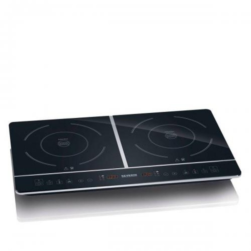 Severin DK 1031 Black Countertop Zone induction hob 2 zone(s)