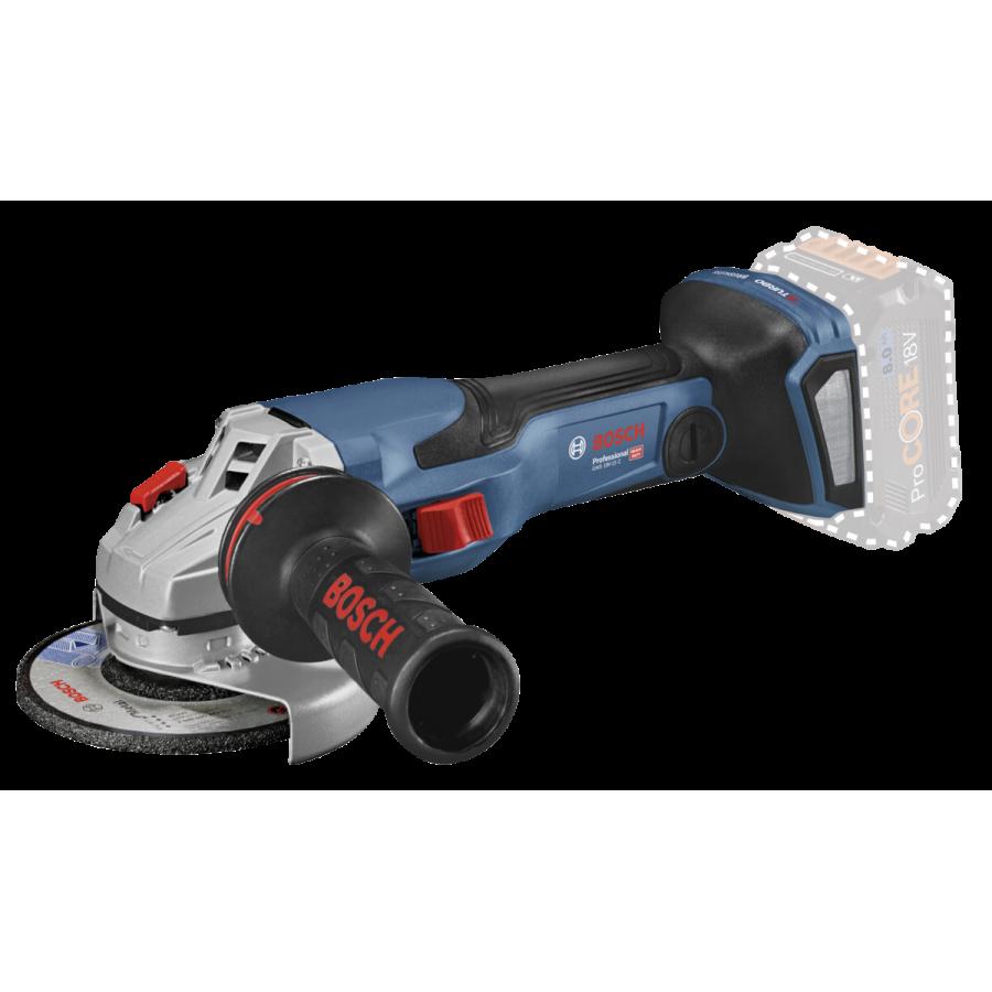 Bosch GWS 18V-15 C Professional angle grinder 12.5 cm 9800 RPM 2.2 kg Black, Blue