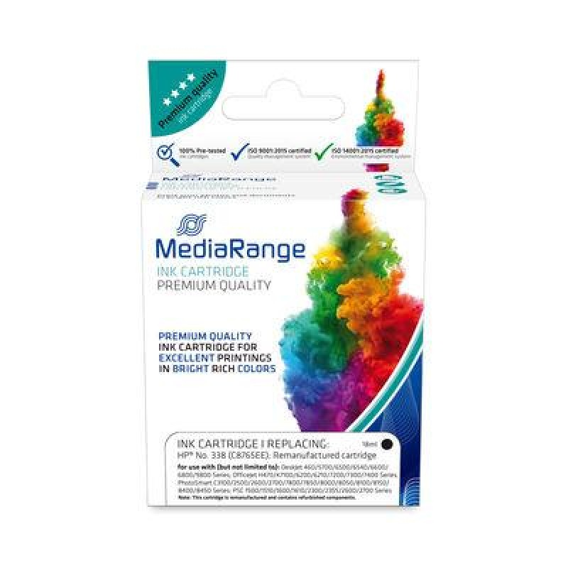MediaRange MRHP338BK ink cartridge Compatible Black 1 pc(s)