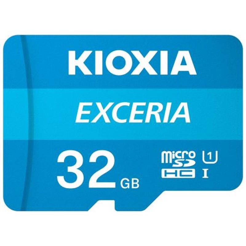 Kioxia Exceria memory card 32 GB MicroSDHC Class 10 UHS-I Blue