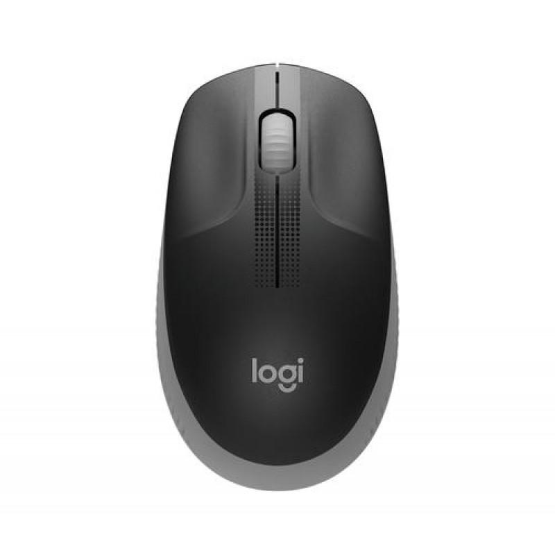 Logitech M190 mouse RF Wireless Optical 1000 DPI Ambidextrous Black, Grey