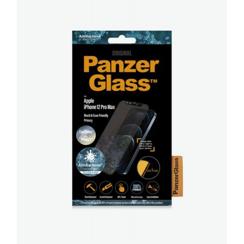 PanzerGlass P2715 screen protector Clear screen protector Mobile phone/Smartphone Apple 1 pc(s) Black