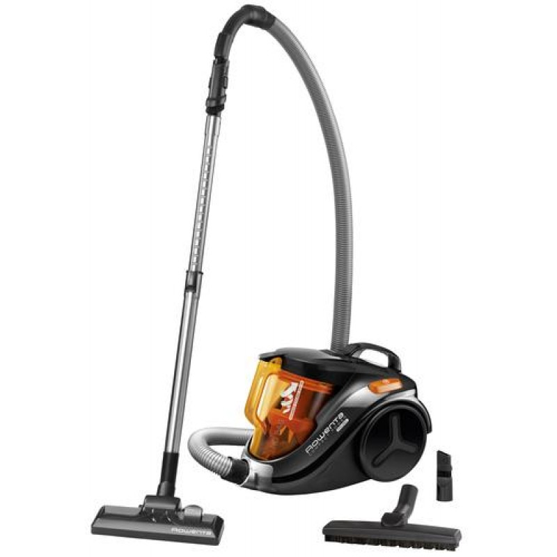 Rowenta Compact Power RO3753 vacuum 750 W Cylinder vacuum Dry Bagless 1.5 L Black,Orange