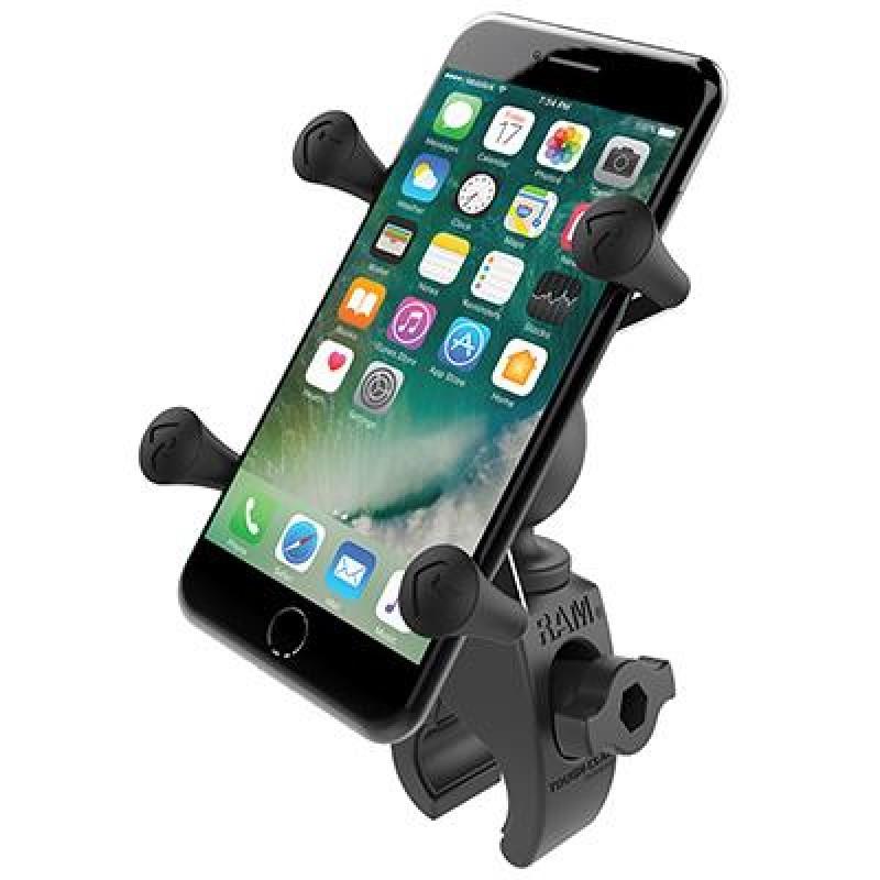 RAM Mounts X-Grip Phone Mount with Low Profile Tough-Claw Base Black