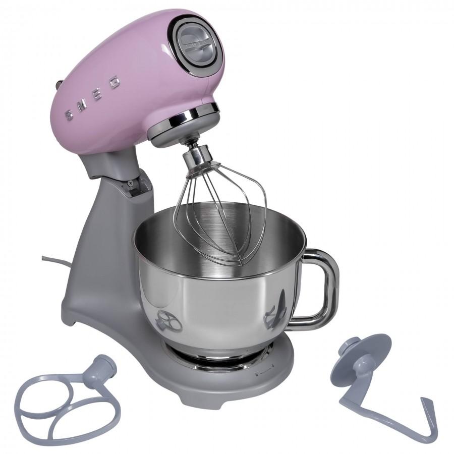 Smeg SMF02PKEU mixer Stand mixer Pink, Silver 800 W