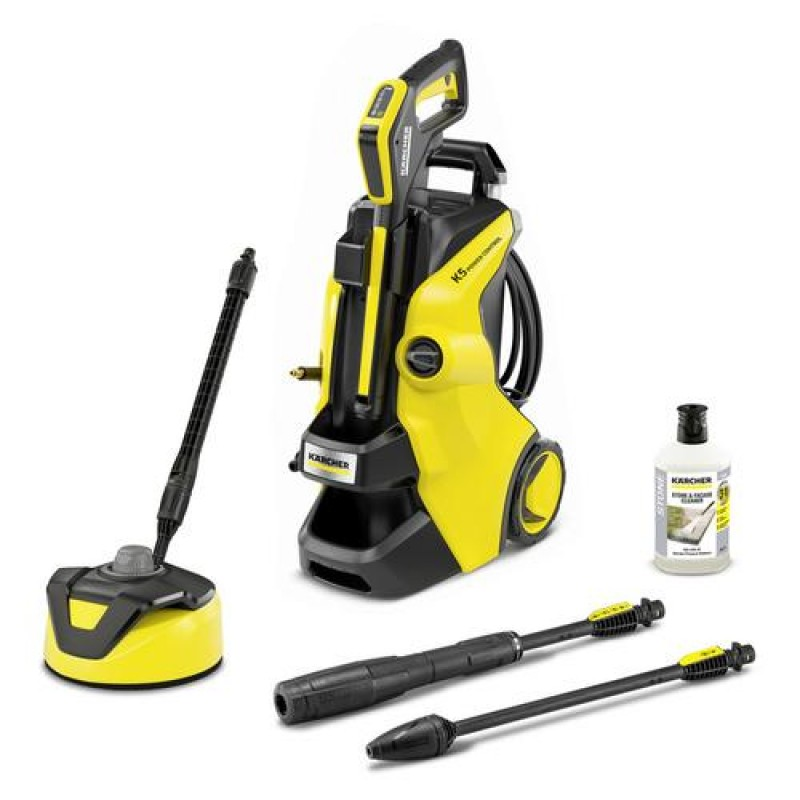Kärcher K 5 Power Control Home pressure washer Upright Electric 500 l/h Black, Yellow