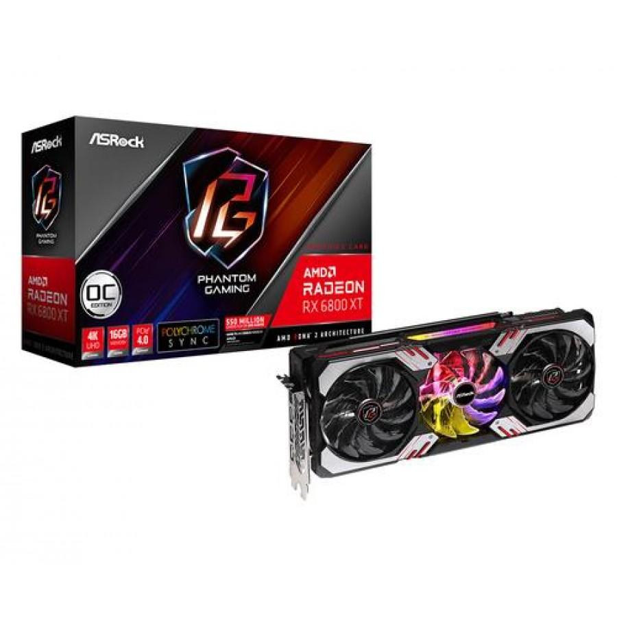 Asrock RX6800XT PGD 16GO AMD GeForce 6800 XT 16 GB GDDR6 Black