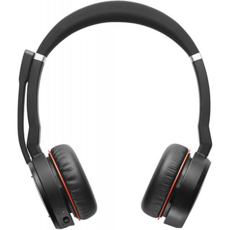 Jabra Evolve 75 MS Stereo Binaural Head-band Black,Red