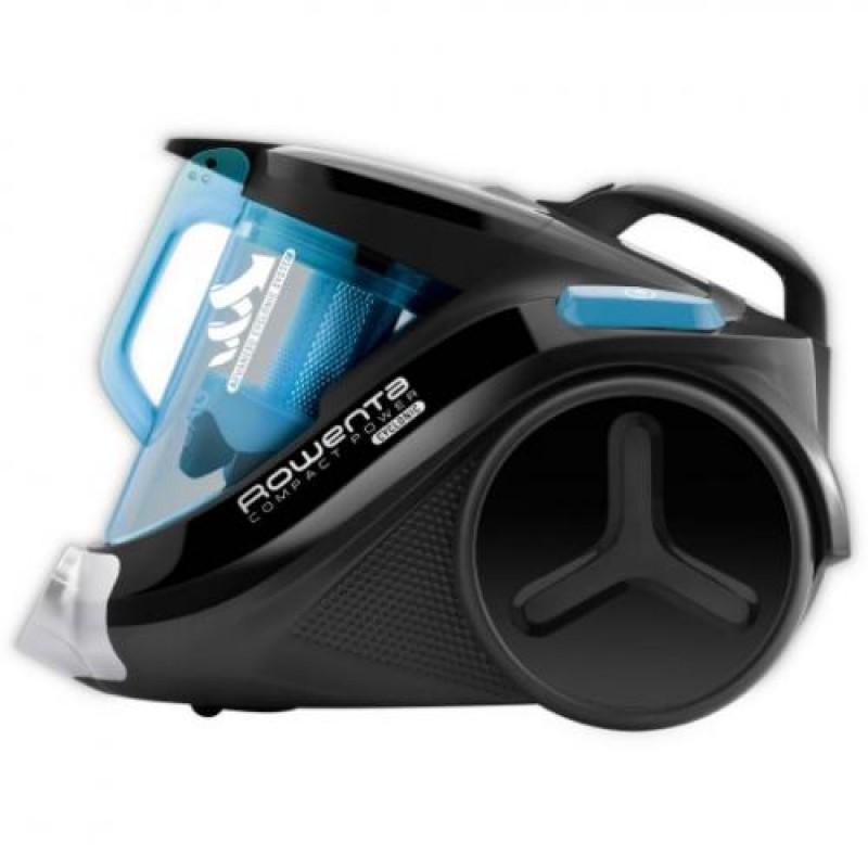 Rowenta Compact Power RO3731 vacuum 750 W Cylinder vacuum 1.5 L Black,Turquoise