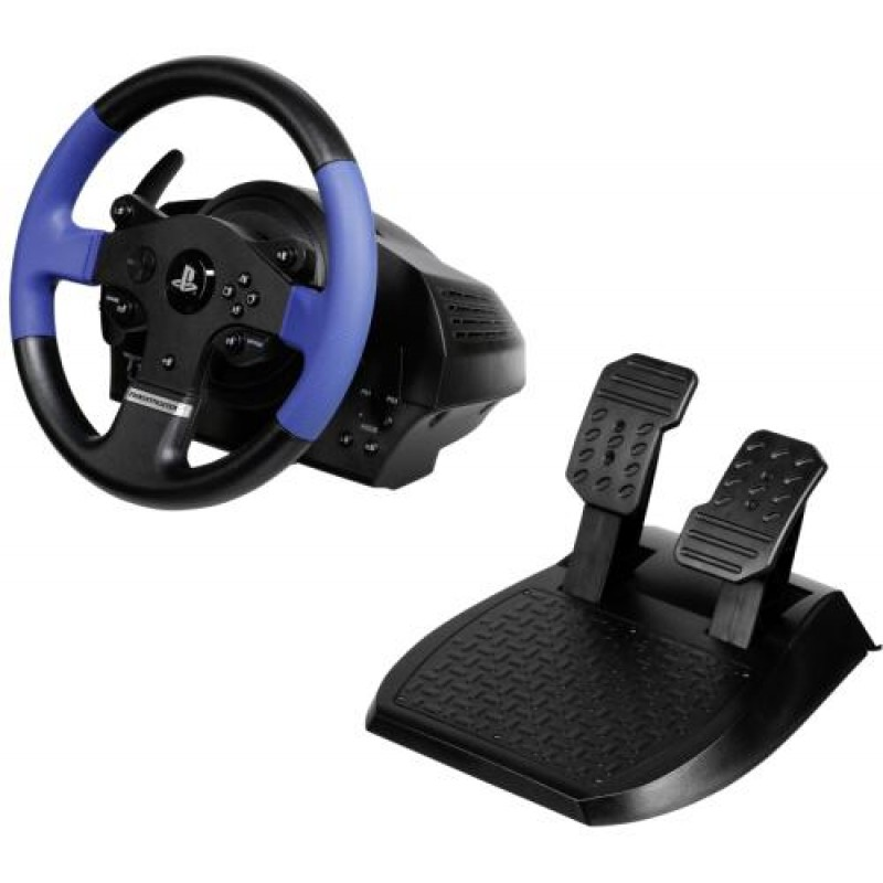 Thrustmaster T150 Force Feedback Steering wheel + Pedals PC,PlayStation 4,Playstation 3 USB Black,Blue