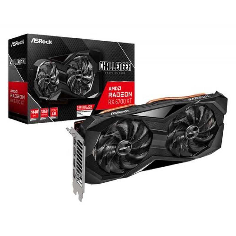 Asrock Challenger RX6700XT CLD 12G graphics card NVIDIA Radeon RX 6700 XT 12 GB GDDR6 Black