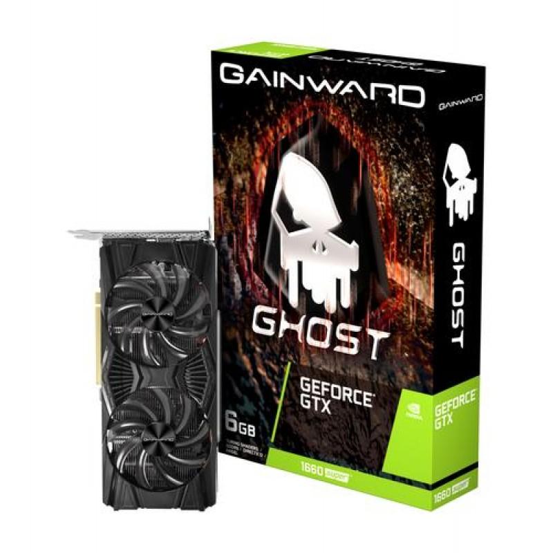 Gainward NE6166S018J9-1160X graphics card NVIDIA GeForce GTX 1660 SUPER 6 GB GDDR6 Black