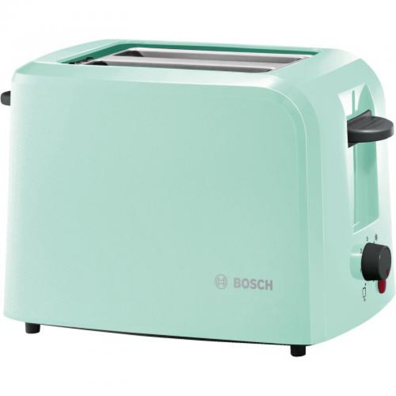 Bosch TAT3A012 toaster 2 slice(s) Black,Turquoise 980 W